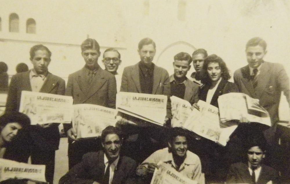 JC d'Alger, mars 1946. Élie Chaïa est en haut à droite.